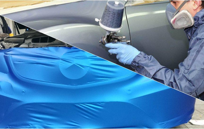 Что лучше – покрасить машину или обтянуть пленкой: плюсы и минусы каждого способа