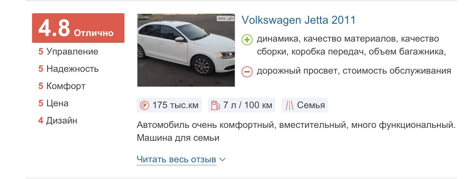 VW Jetta автомат отзыв