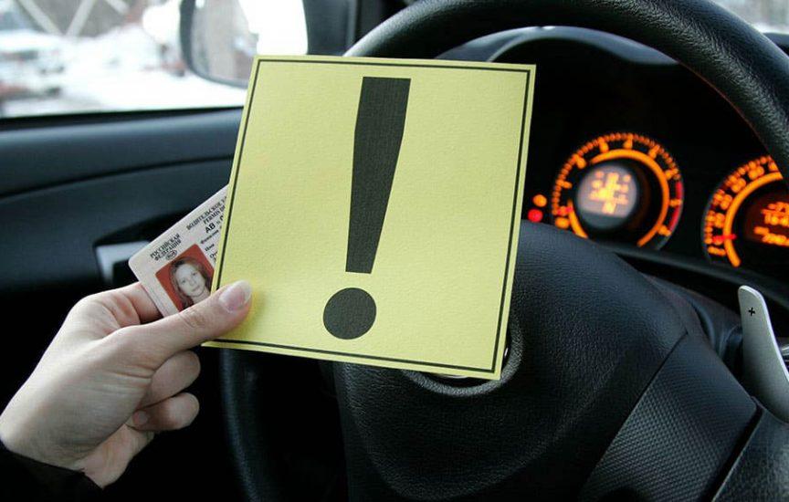 Наклейка «Начинающий водитель»