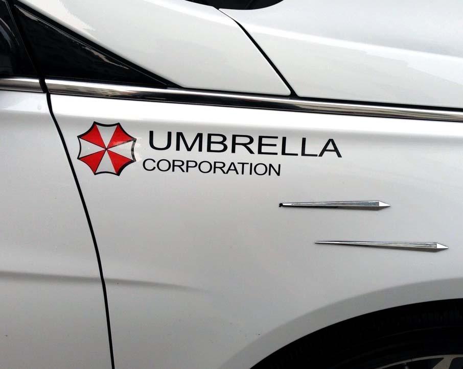 Наклейка Umbrella Corporation на авто