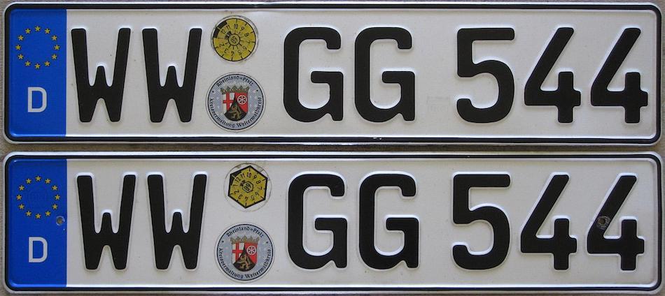 Пример немецких номеров