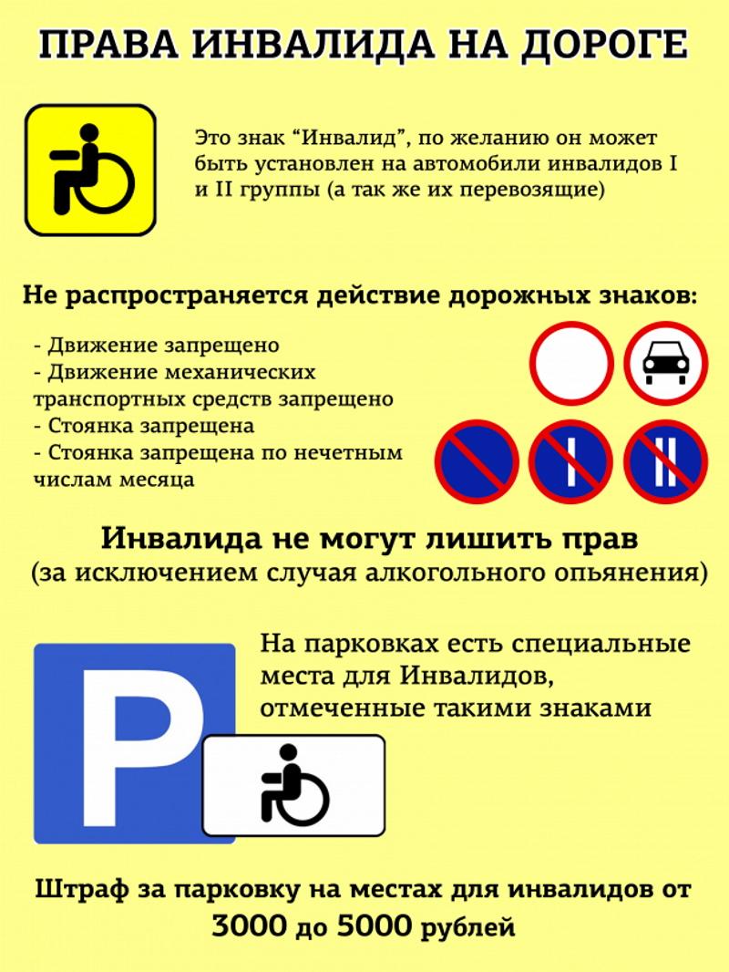 Перечень льгот для инвалидов на дороге