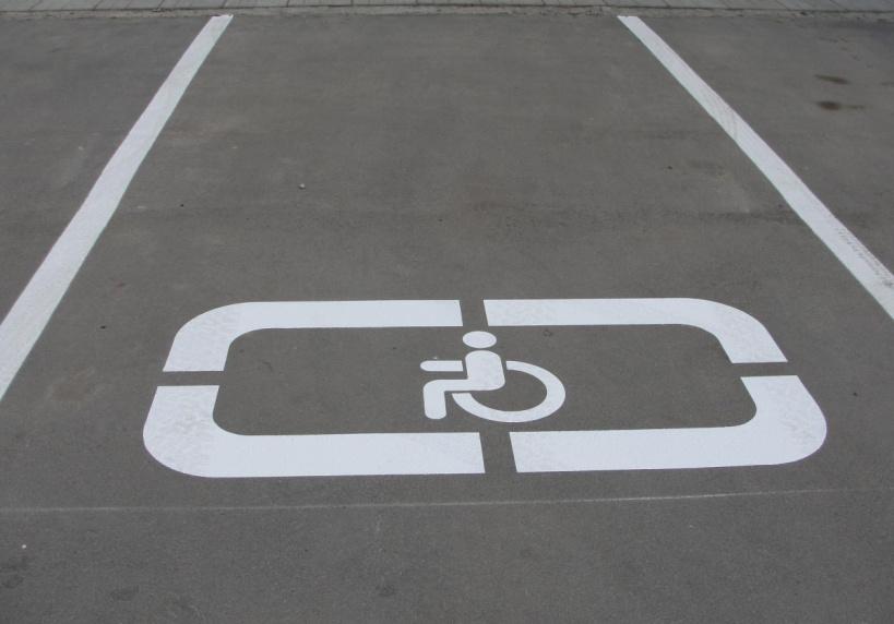 Разметка «Парковка для инвалидов»