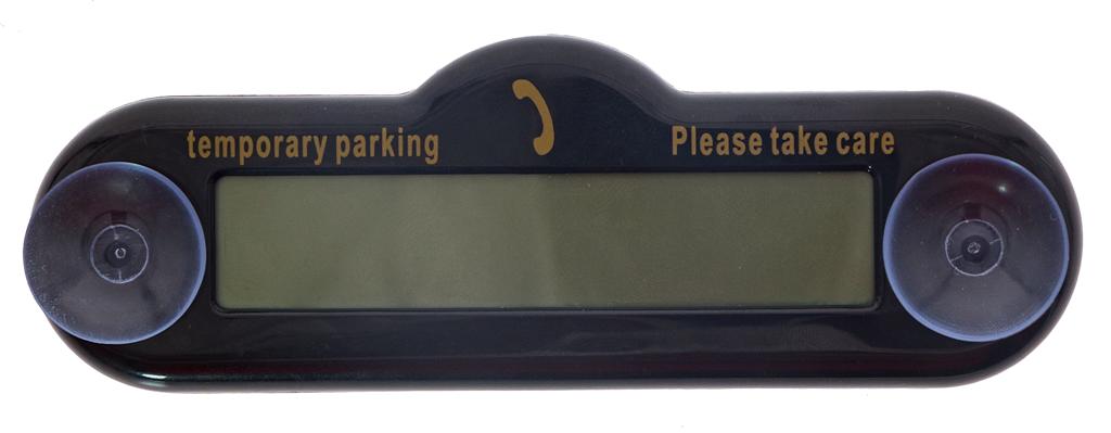 Табло парковки с номером телефона