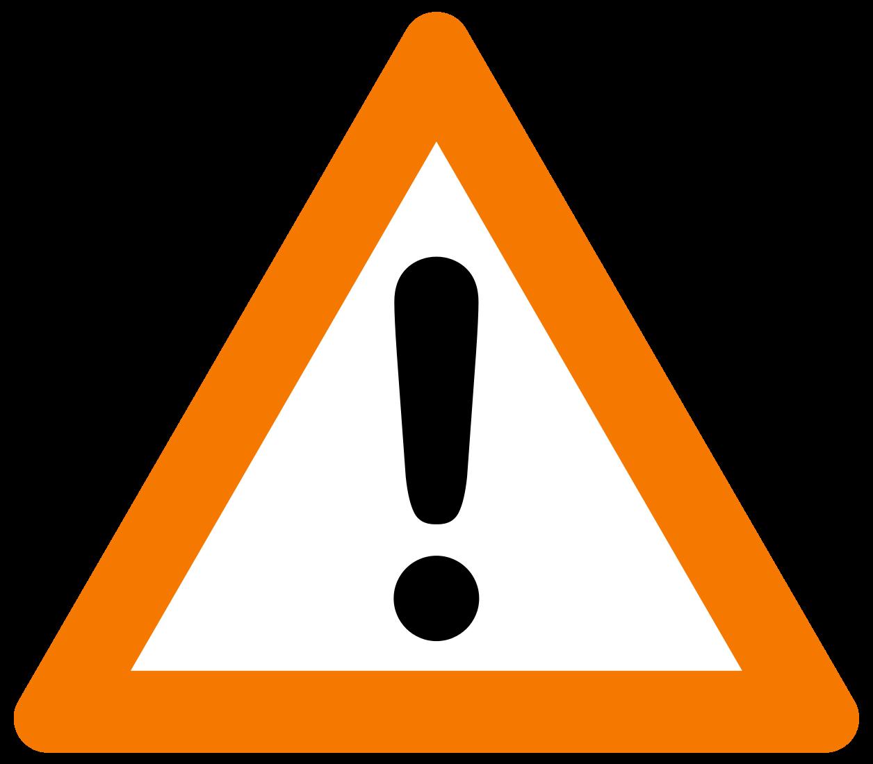 Треугольник с восклицательным знаком
