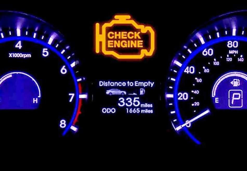 Значок «Чек» в машине