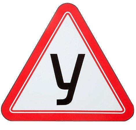Знак для учебного автомобиля «У-05» односторонний на магнитном виниле
