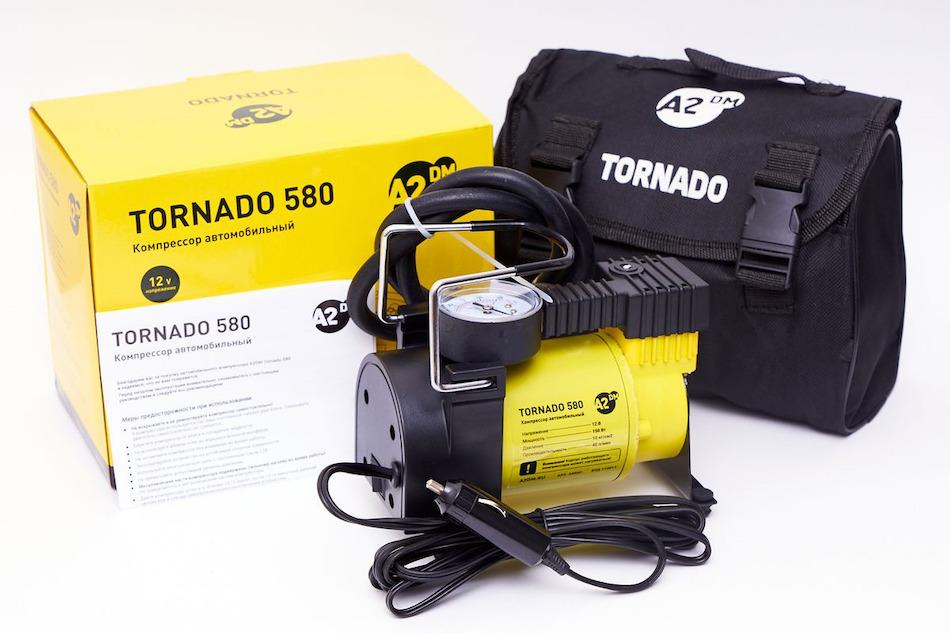 Автомобильный компрессор A2DM Tornado 580 в сумке