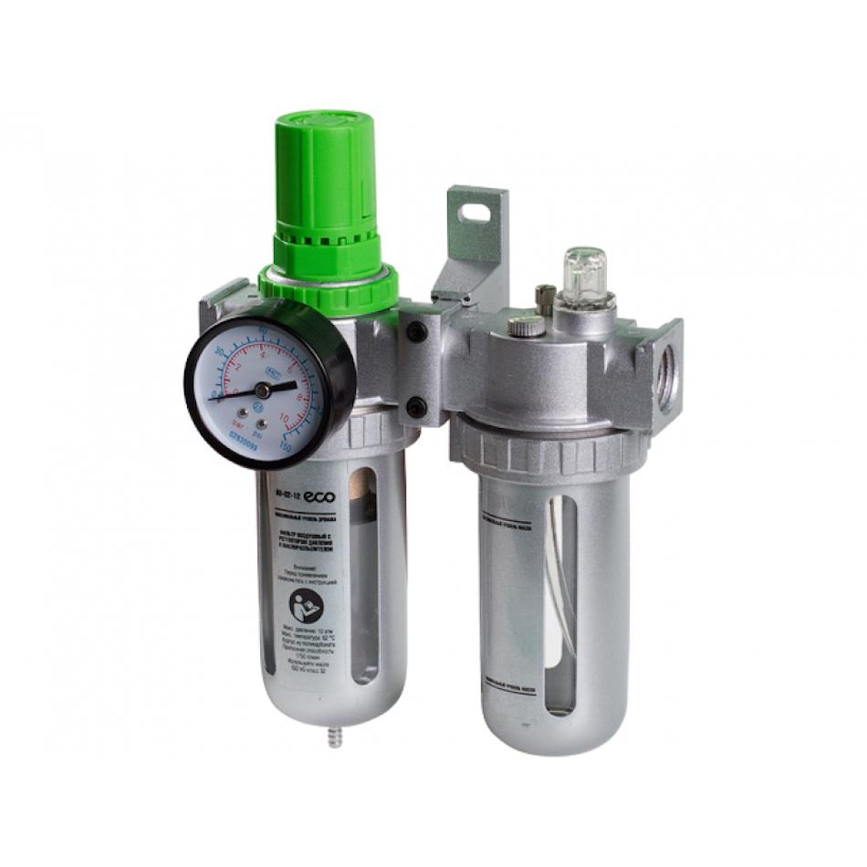 Фильтр воздушный ECO AU-02-14 с регулятором давления и маслораспылителем (1:4, 1750л:мин)