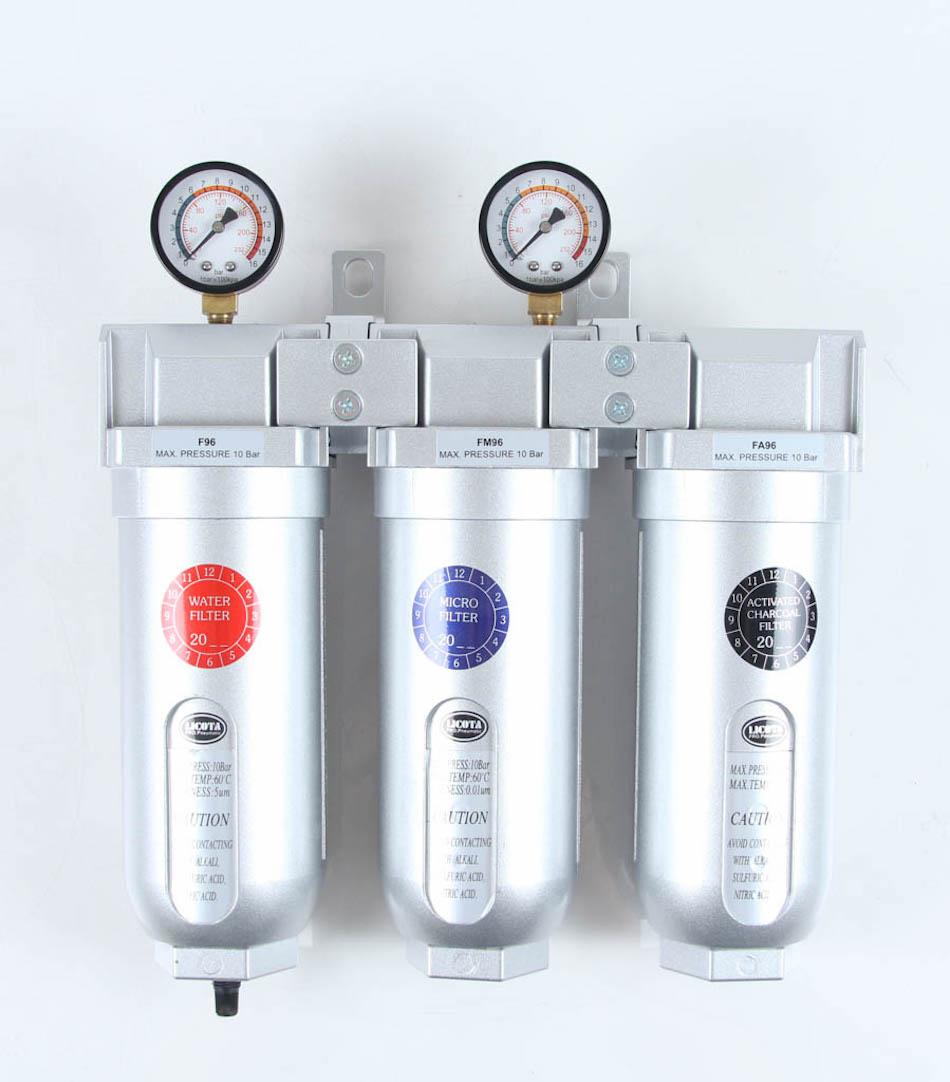 Licota PAP-C207B Фильтр-влагомаслоотделитель тонкой очистки 3:8 3-уровневый, 0,01 микрон