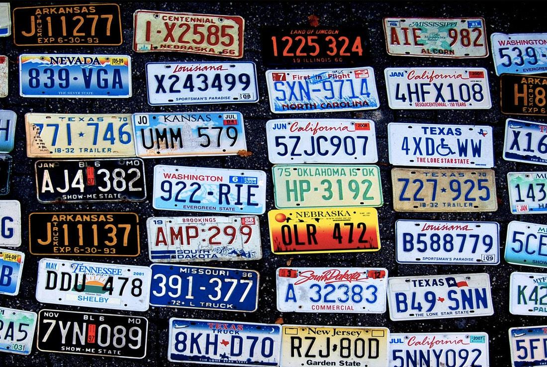 Американские номера машин