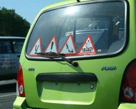 Наклейки на авто для начинающих водителей