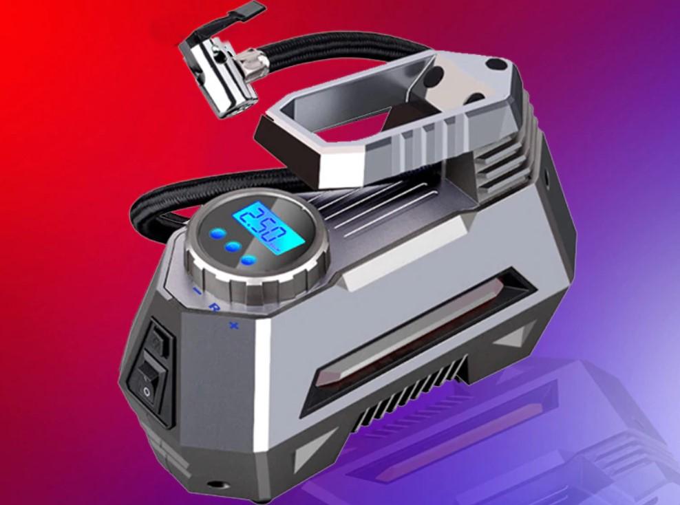 Портативный воздушный компрессор с цифровым манометром
