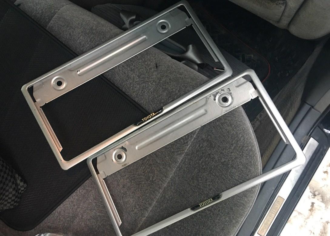 Номерные рамки под японские машины