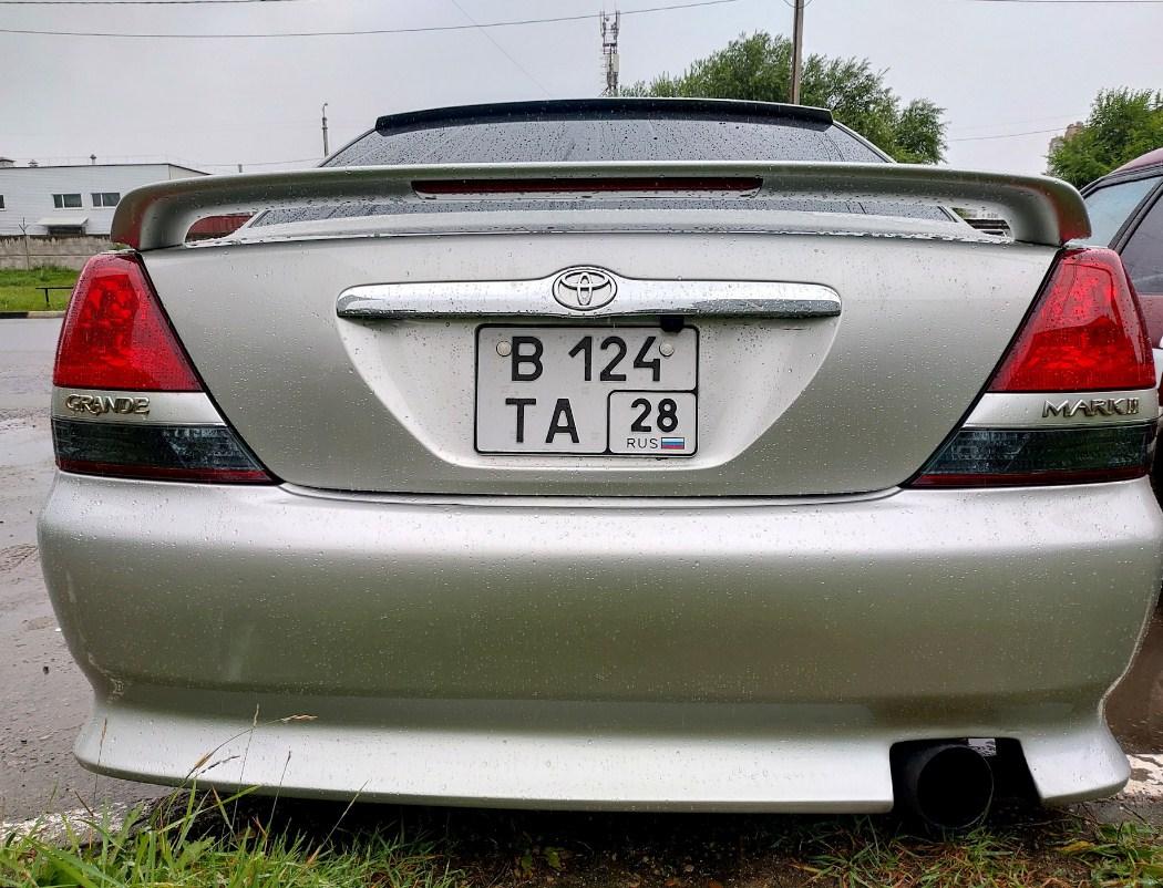 как закрепить задний номер на японском авто