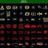 значки на панели автомобиля калина обозначение