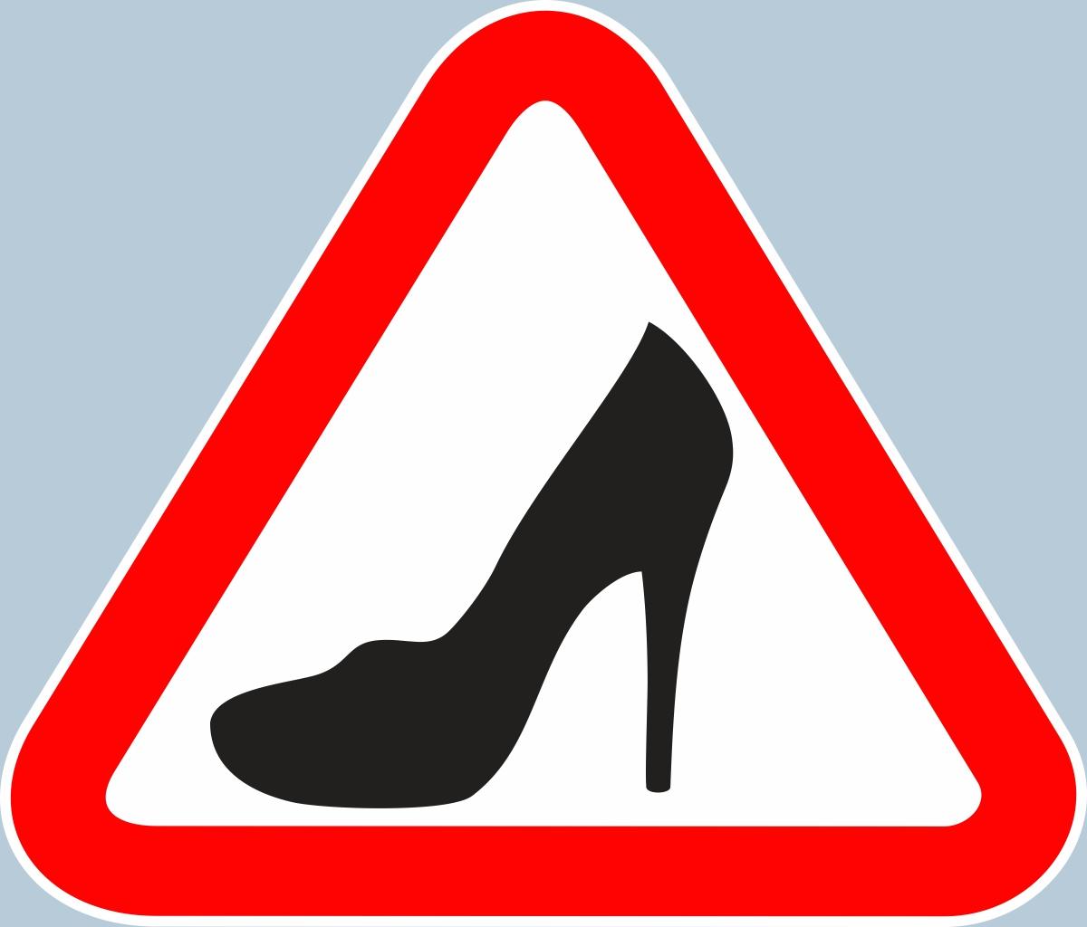 Знак «Туфелька» на авто