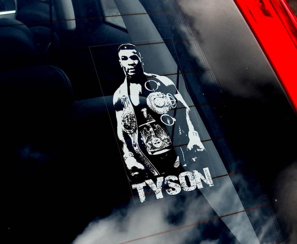 Наклейка на авто Майк Тайсон — Mike Tyson