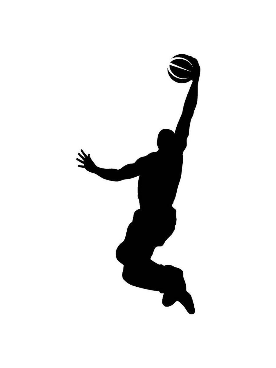 Наклейка на авто Баскетболист с мячом