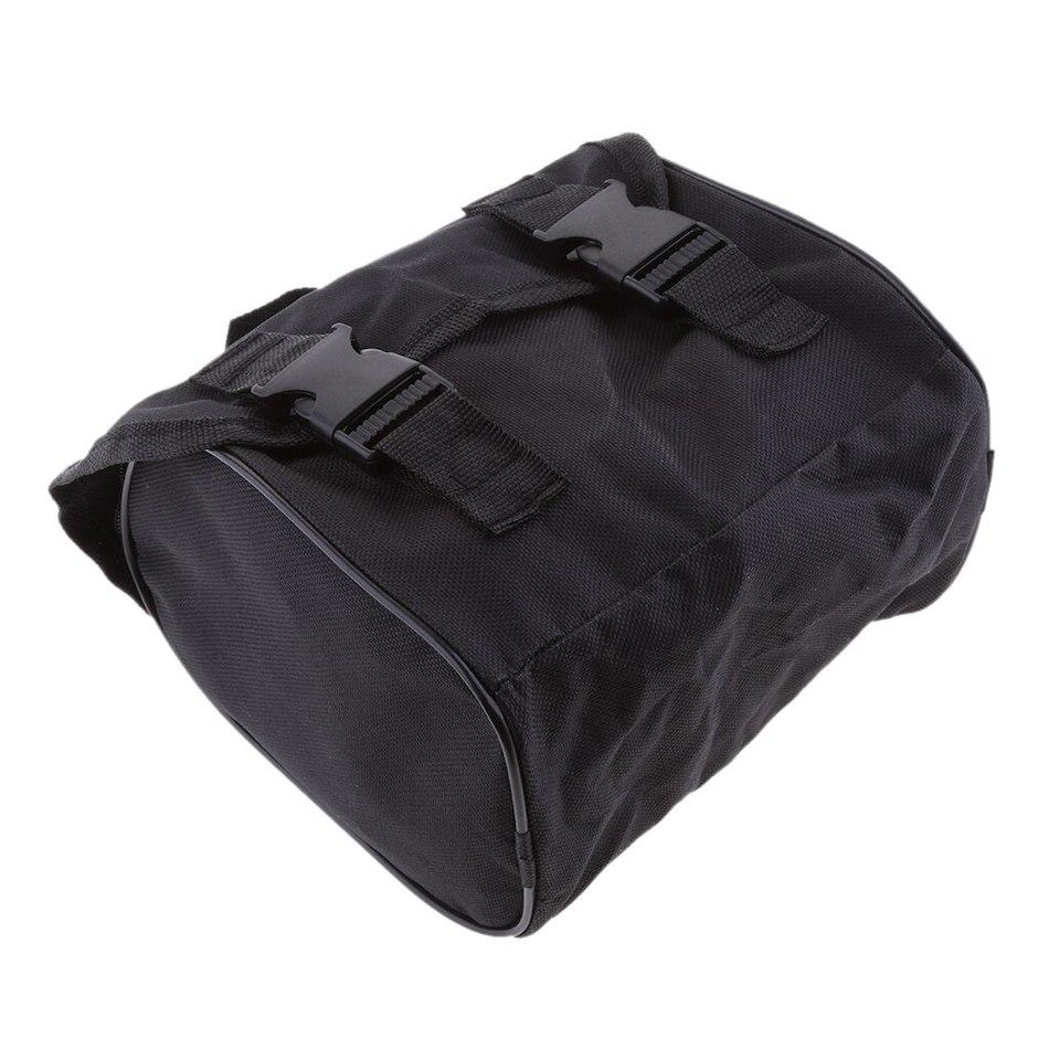 Черная сумка-органайзер для хранения компрессора