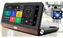 Радар-детектор + Регистратор на 2 камеры + GPS