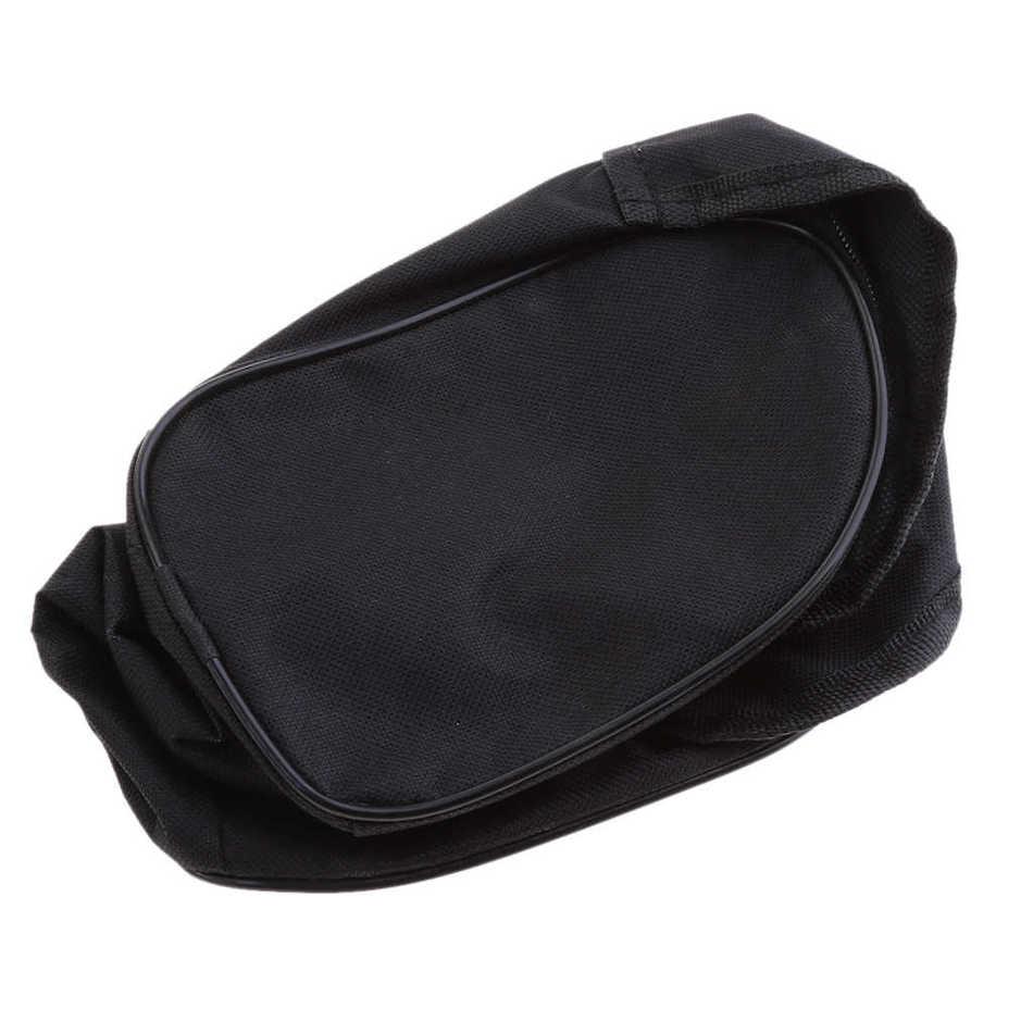 Черная сумка-органайзер для хранения компрессора и автомобильных инструментов