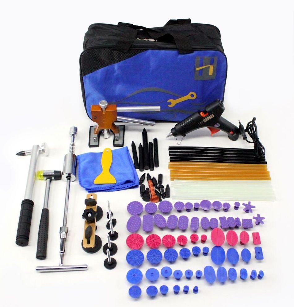 Клеевой набор PDR инструмента для удаления вмятин без покраски 14 предметов
