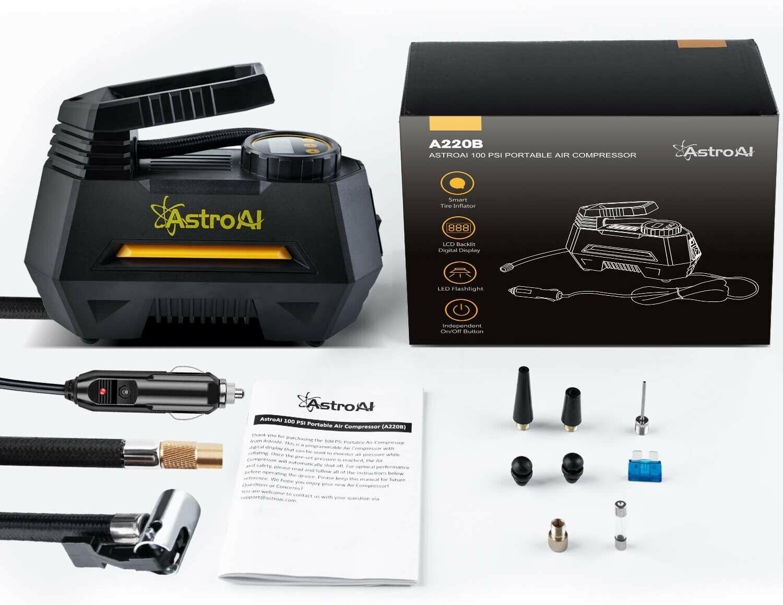 Автомобильный компрессор AstroAI 150 PSI