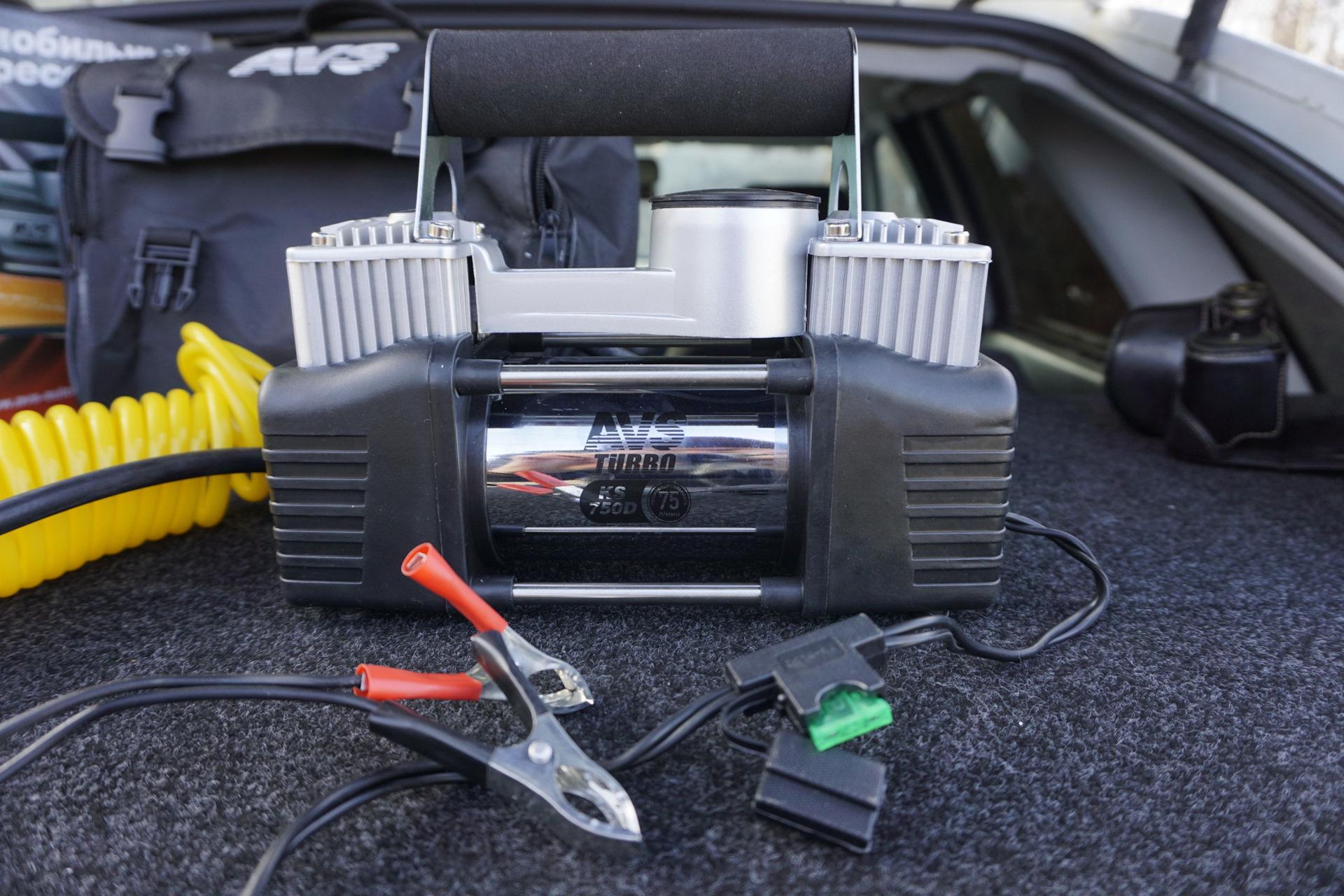 Автомобильный мощный компрессор AVS KS750D