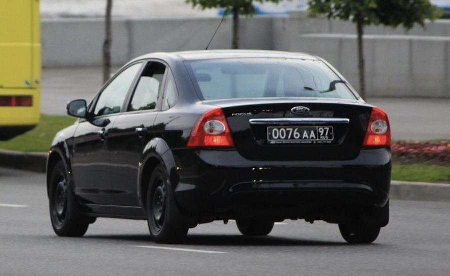 Черные номера на машине