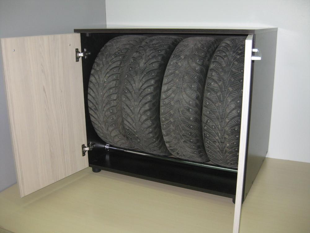 Хранение колес в шкафу