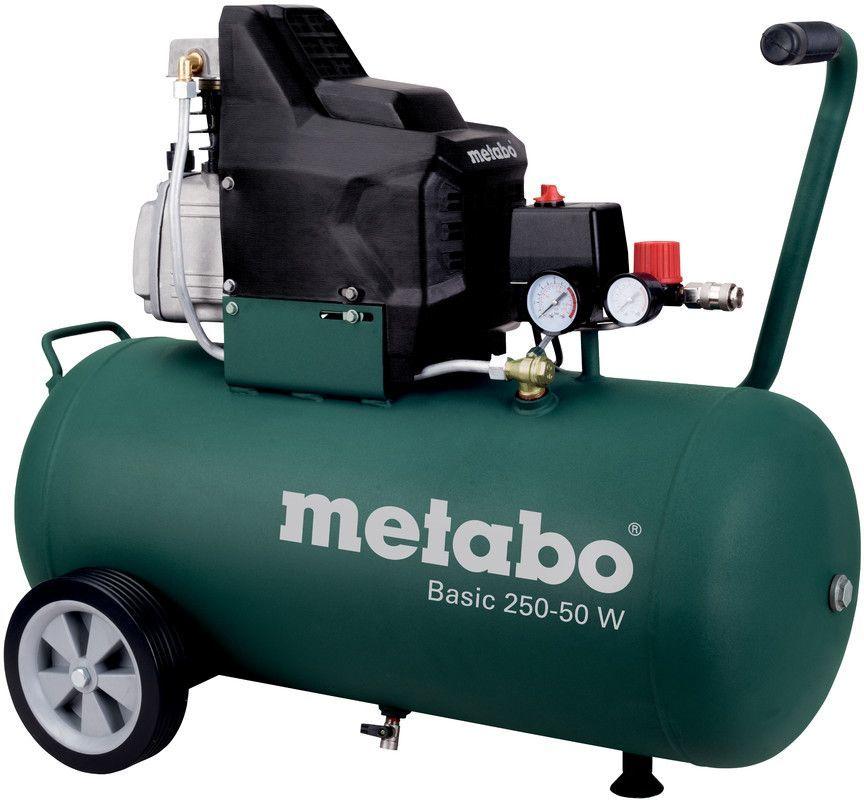 Компрессор безмасляный Metabo Basic 250-50 W OF, 50 л, 1.5 кВт