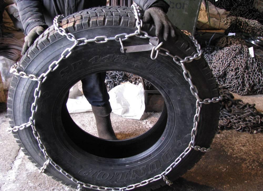 Металлические цепи противоскольжения