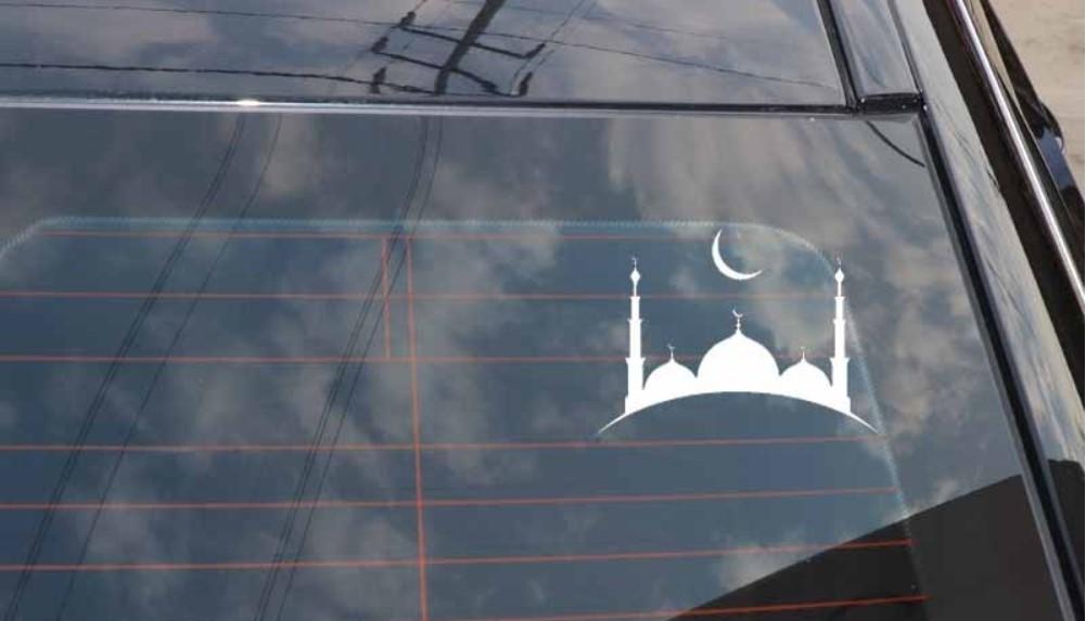 наклейка мусульманская на машину