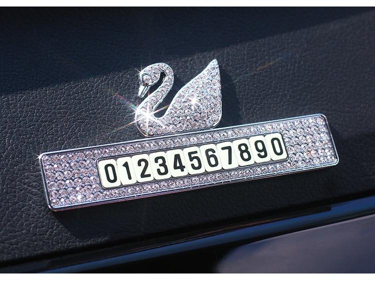 Подвижная табличка с номером автомобиля «Лебедь»
