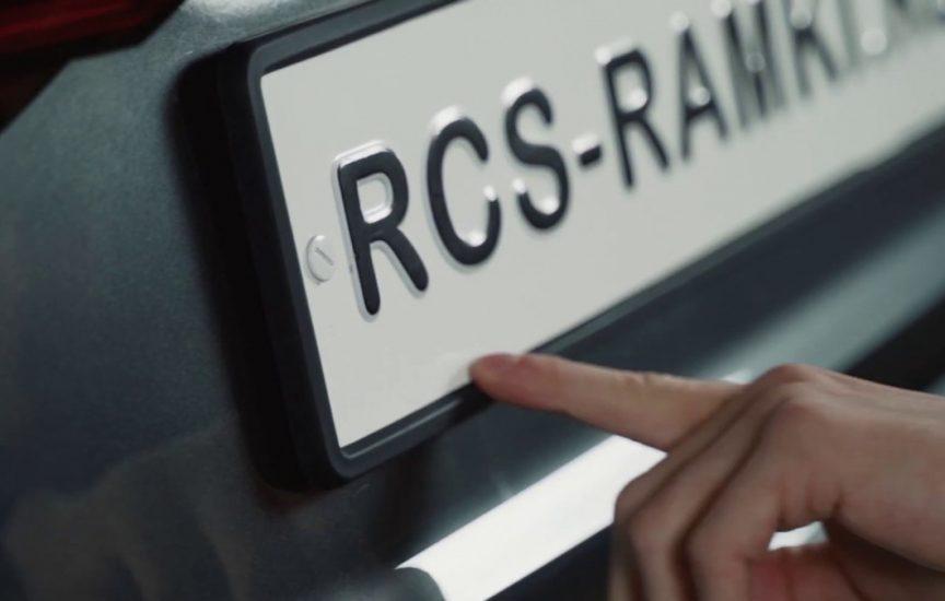 Рамка для номера автомобиля спецслужб