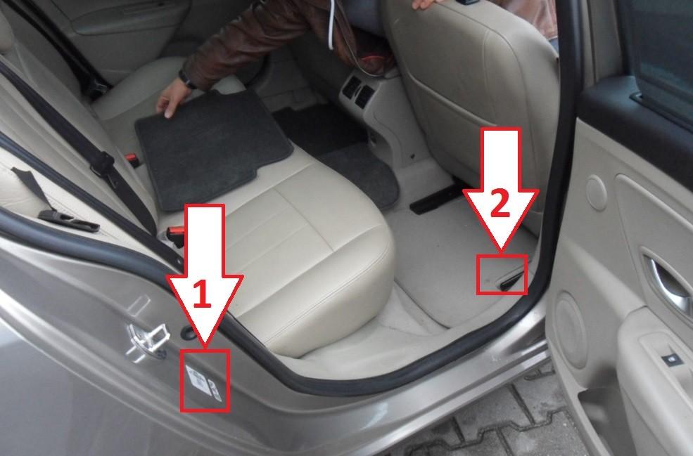 Расположение ВИН-номера в автомобиле «Рено»