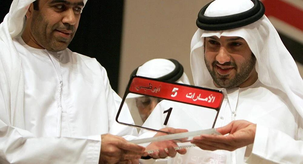 Саид Абдул Гафур Кхури (справа) - владелец самого дорогого в мире гос номера автомобиля