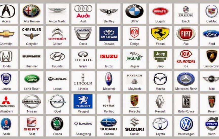 Все известные марки машин со значками и названиями