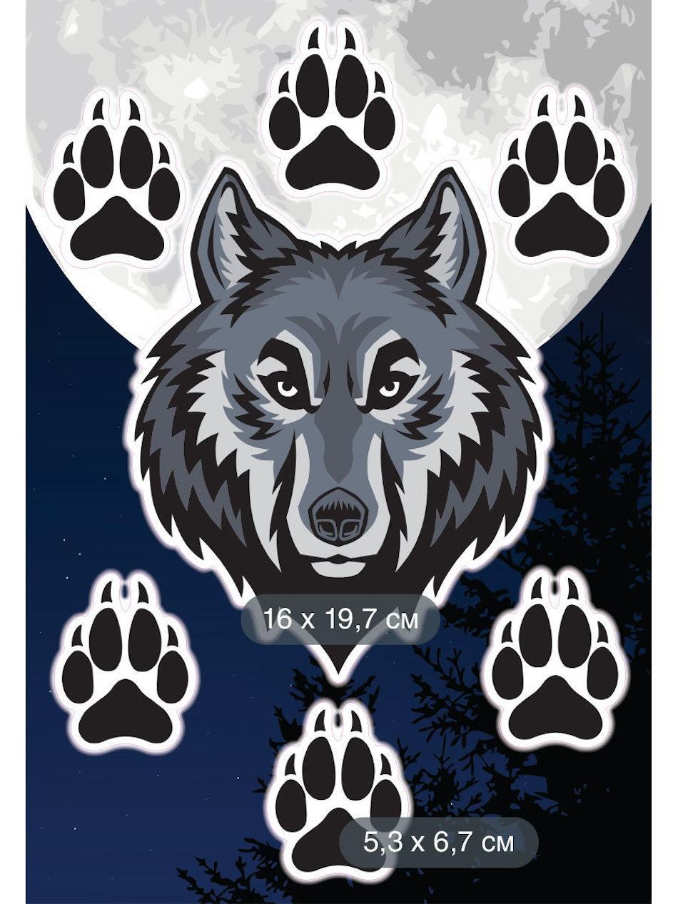 DECORETTO. Наклейка на автомобиль «Одинокий волк»