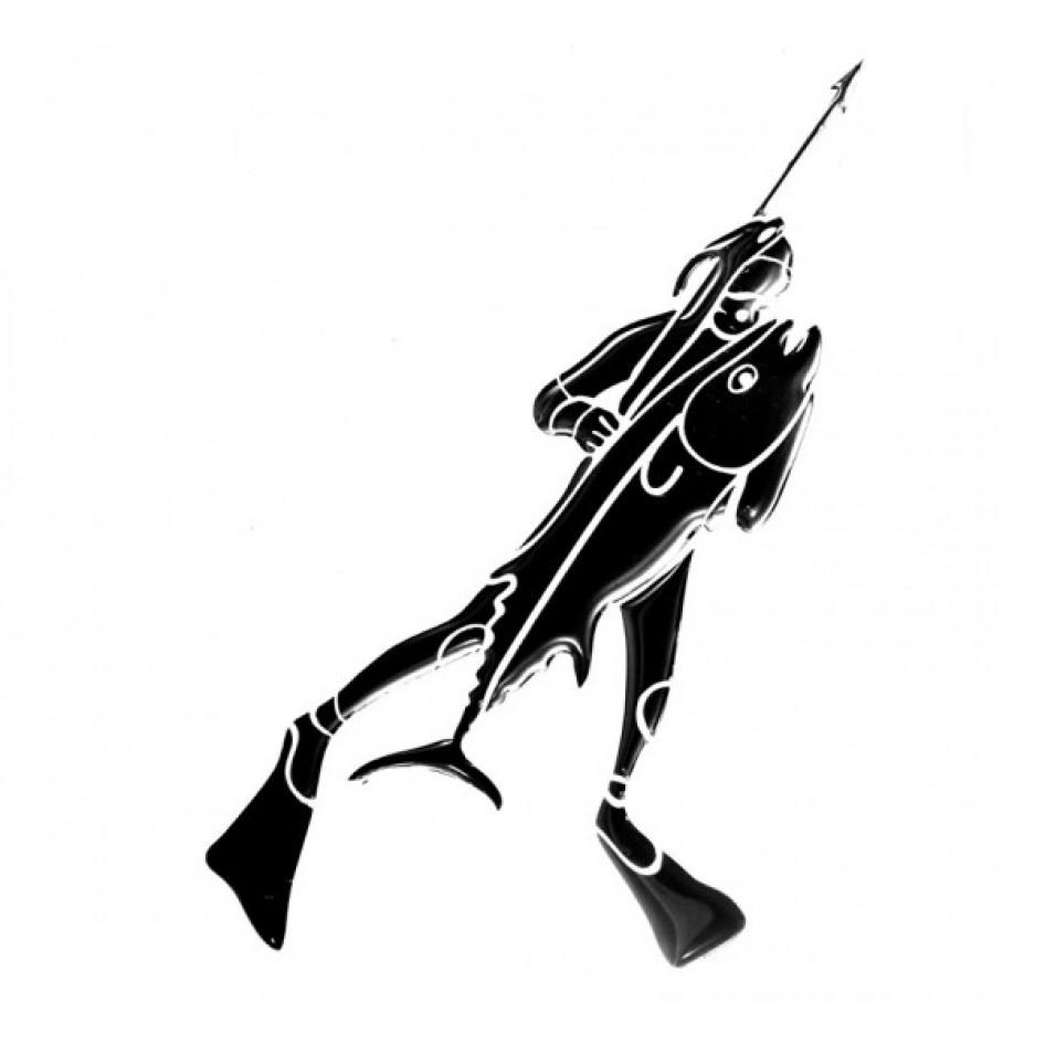 Наклейка «Охотник с копьем, правая»