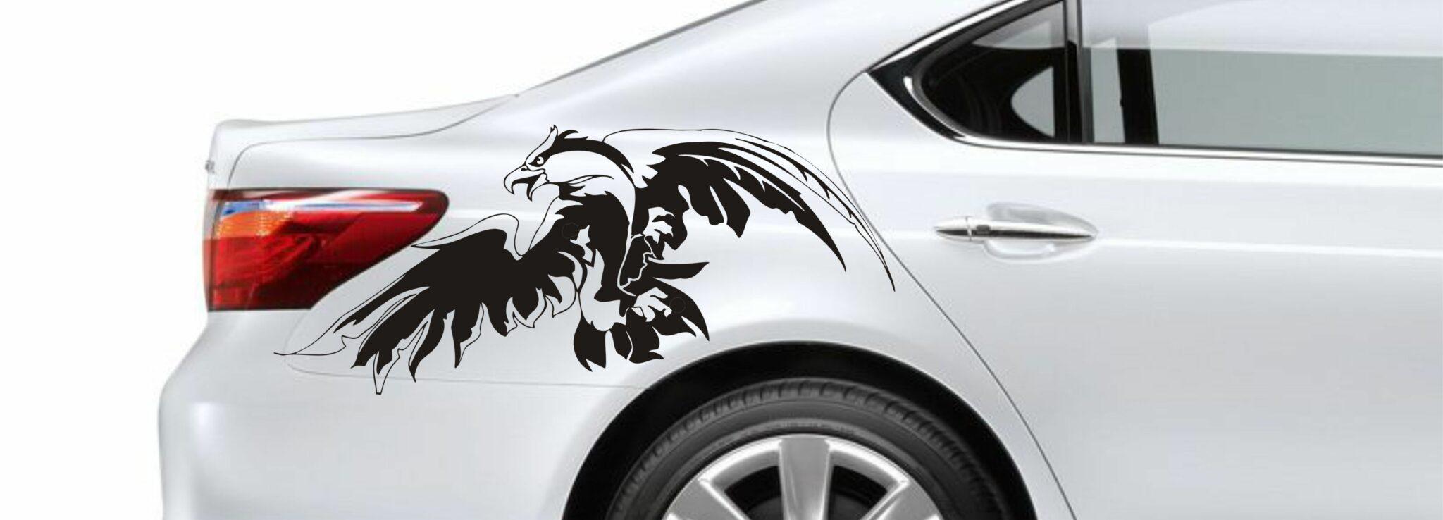 Черно белые наклейки на авто