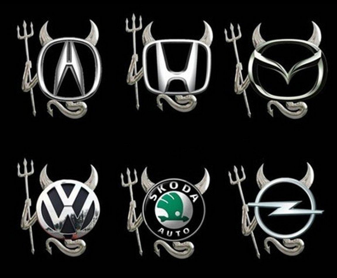 Изображение чертика на логотипах разных автомобилей