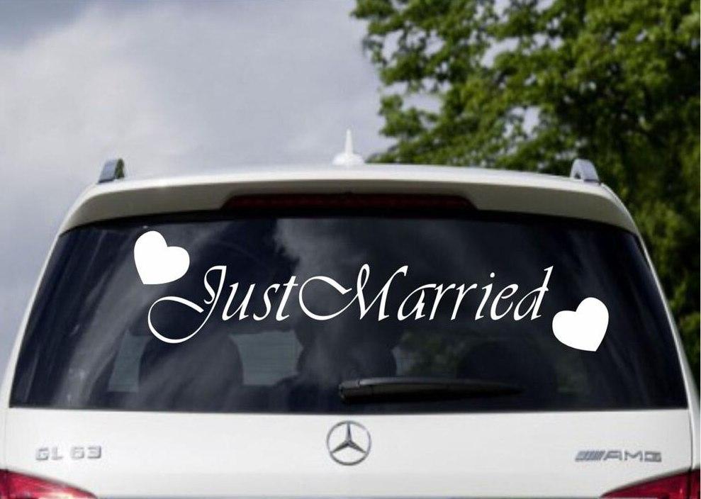 Свадебная наклейка на автомобиль