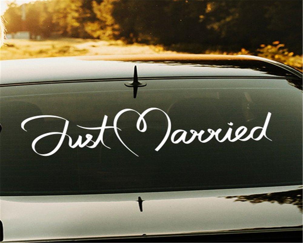 Свадебная наклейка на машину