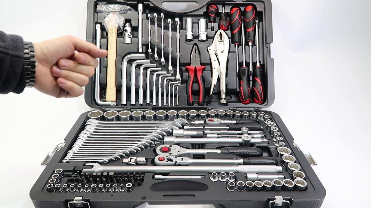Наборы инструмента для авто в чемодане FORCE