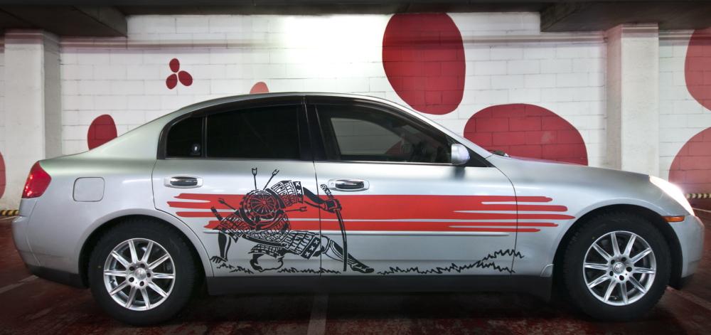 Наклейка на авто «Самурай»