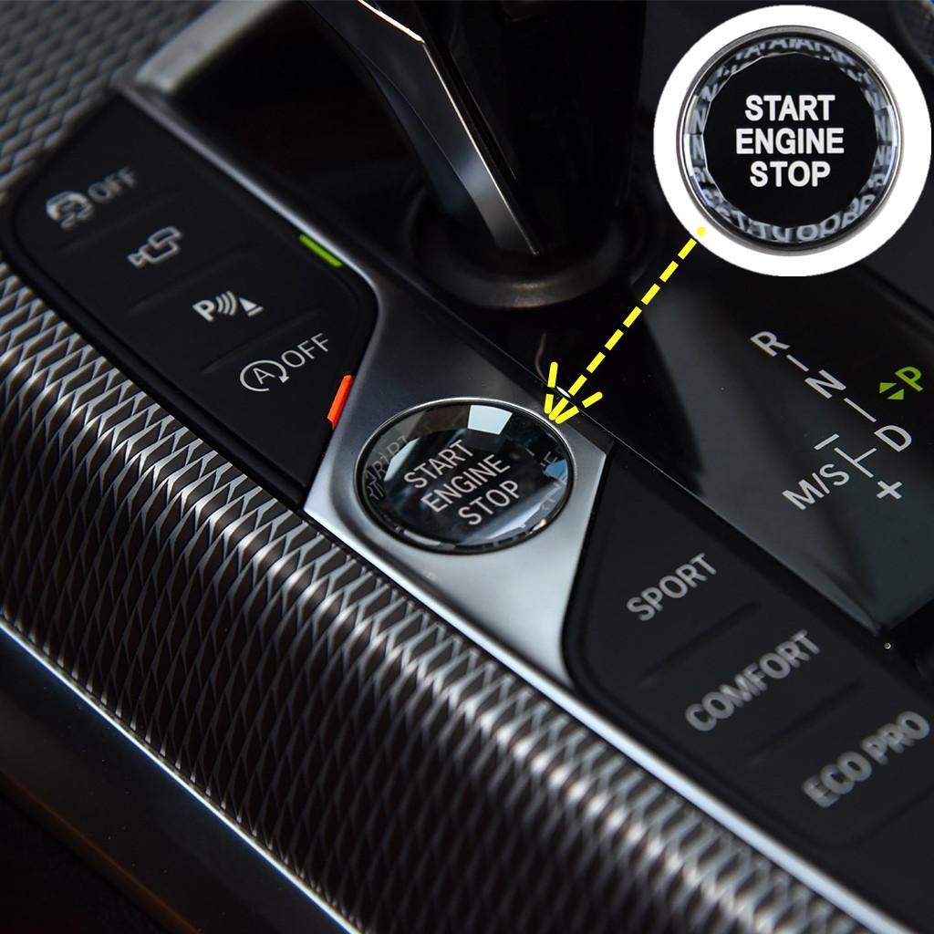 Наклейка на кнопку переключателя Старт/Стоп для BMW E60