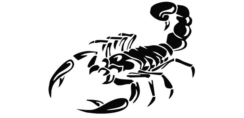 Наклейка «Скорпион»