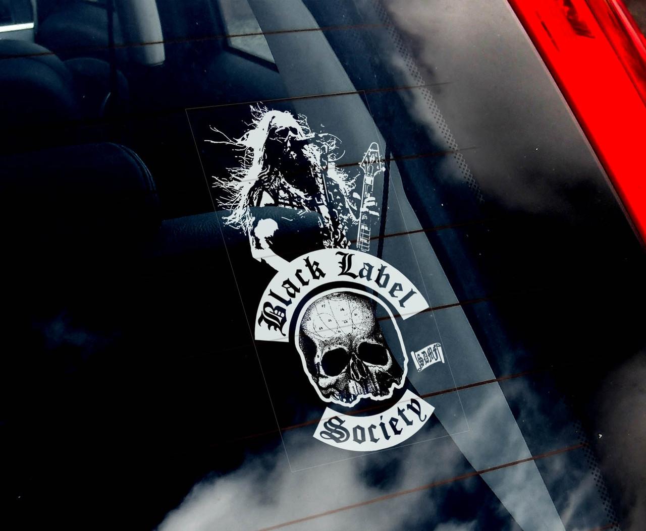 Наклейки на черную машину